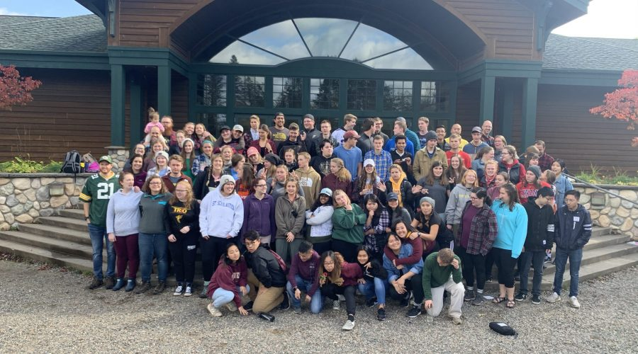 Scholastica Students at Fall Getaway