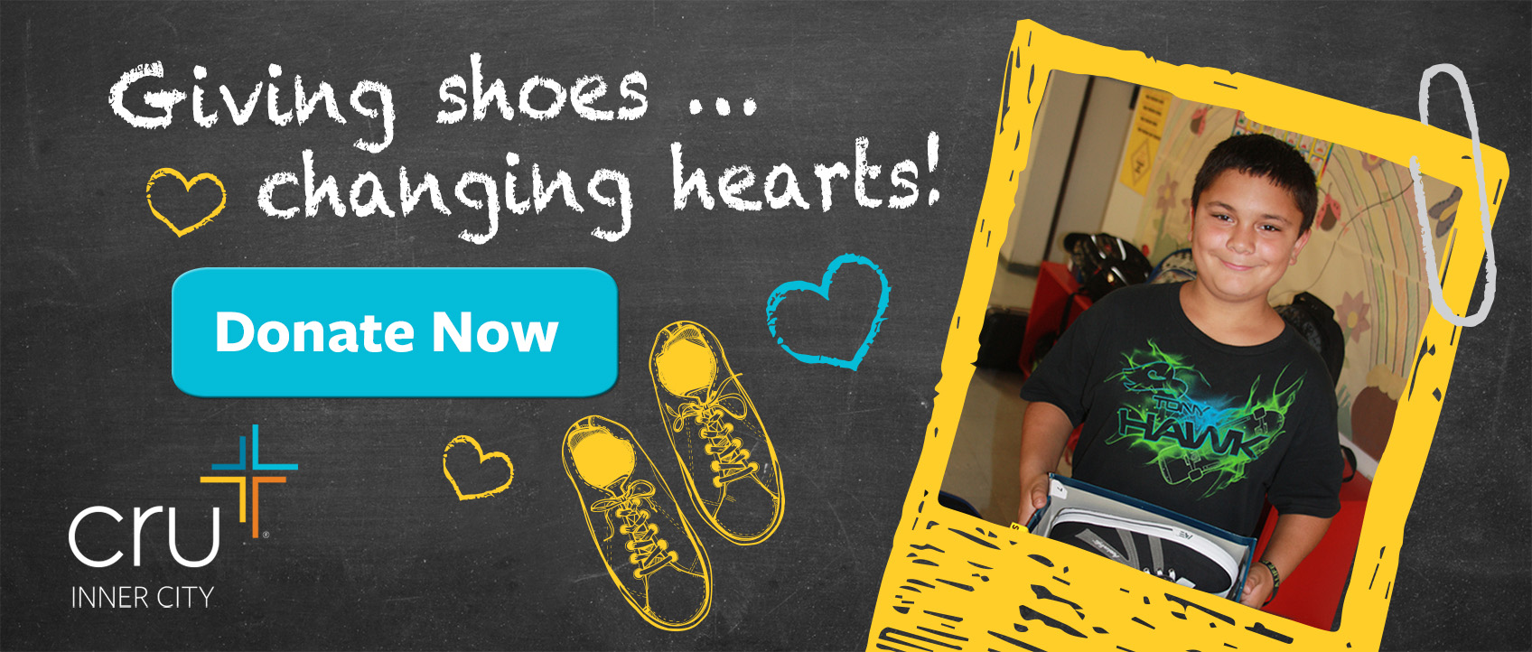 Give to Heart & Sole® — back-to-school shoes