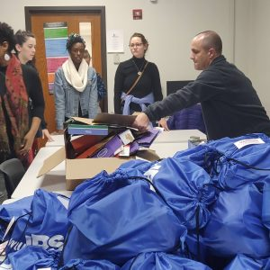 """Day 02: We have an amazing opportunity to help students in the city who might need help. We partner with IPS to give out """"fight packs"""" that will be used to help families get throughout the weekends and not go to bed hungry."""